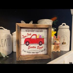 Farmhouse Wooden Easter Sign